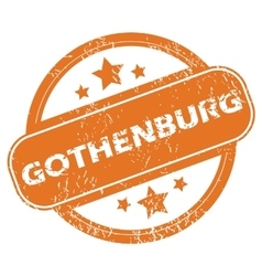 Gothenburg rubber stamp vector