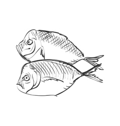 Doodle fish vector