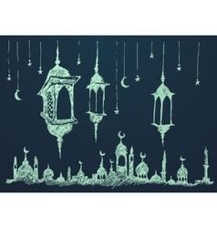 Ramadan celebration hand drawn vector