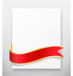 Celebration paper greet card with red festive vector