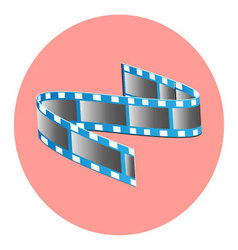 Tape film icon vector