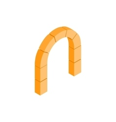 Semicircular stone arch icon isometric 3d style vector