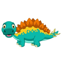 Cute stegosaurus cartoon posing vector