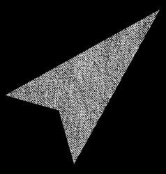 Arrowhead right-up fabric textured icon vector