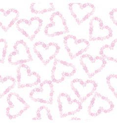 Background with hearts made of flowers vector image vector image