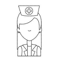 Beutiful nurse avatar character vector