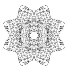 Black frog mandala vector image vector image
