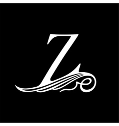 Capital letter z for monograms emblems and logos vector