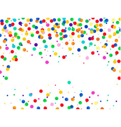 Colorful confetti background isolated on vector