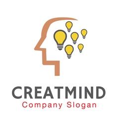 Creative mind design vector