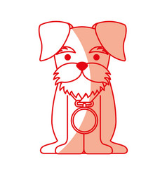 cute dog mascot with medal vector image