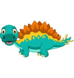 cute stegosaurus cartoon posing vector image vector image