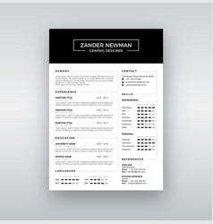 Cv resume clean design template curriculum vector
