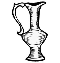 decorative eastern vase vector image vector image