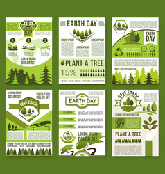 Earth day and ecology conservation poster vector
