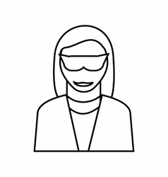 Female detective icon outline style vector