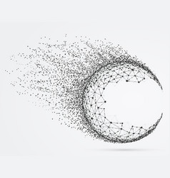 global mesh sphere with particles vector image vector image
