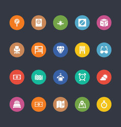 Glyphs colored icons 36 vector