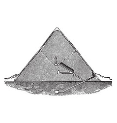 Great pyramid section pyramid of cheops vintage vector