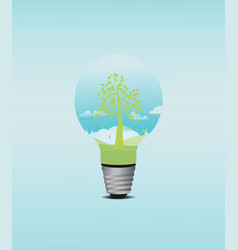 Green tree bulb vector