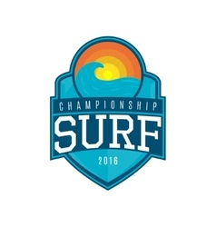 label of surf vector image