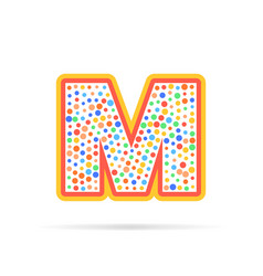 letter m with group of circles abstract logo icon vector image vector image