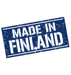Made in finland stamp vector