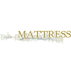 Mattress text background word cloud concept vector