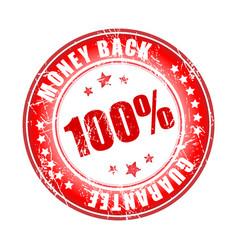 money back guarantee stamp vector image vector image
