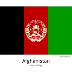 National flag of Afghanistan with correct vector image
