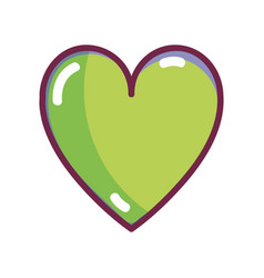 Nice organic heart healthy life vector