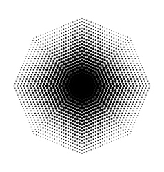 Octagon halftone geometric shapes dot vector