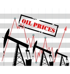 Oil price graph vector image