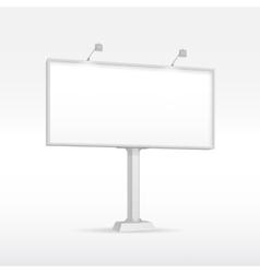 Outdoor Billboard with Lighting vector image