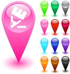 Pencil button vector image vector image