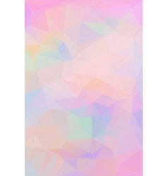 Pink polygonal background Geometric texture vector image vector image