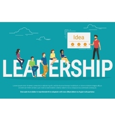 Project leadership concept of vector image