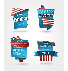Set of four presidential election badges vector image vector image