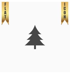 Spruce christmas tree icon vector image vector image