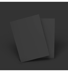 Stack of pages business mockup template vector