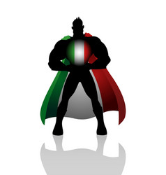 superhero with italy insignia vector image vector image