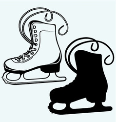 White skates vector image vector image