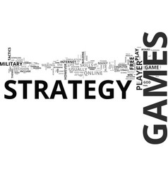 Why i love strategy games text word cloud concept vector