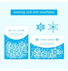 Winter banners with snowflakes on a blue vector image