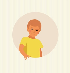 blond boy vector image