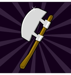 Shining poleaxe icon vector