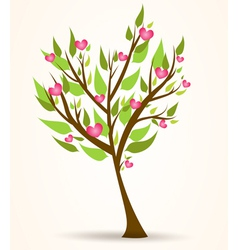 Tree hearts vector