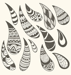 Paisley design elements vector