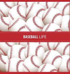 Bright baseball background vector