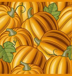 Seamless pumpkin background vector